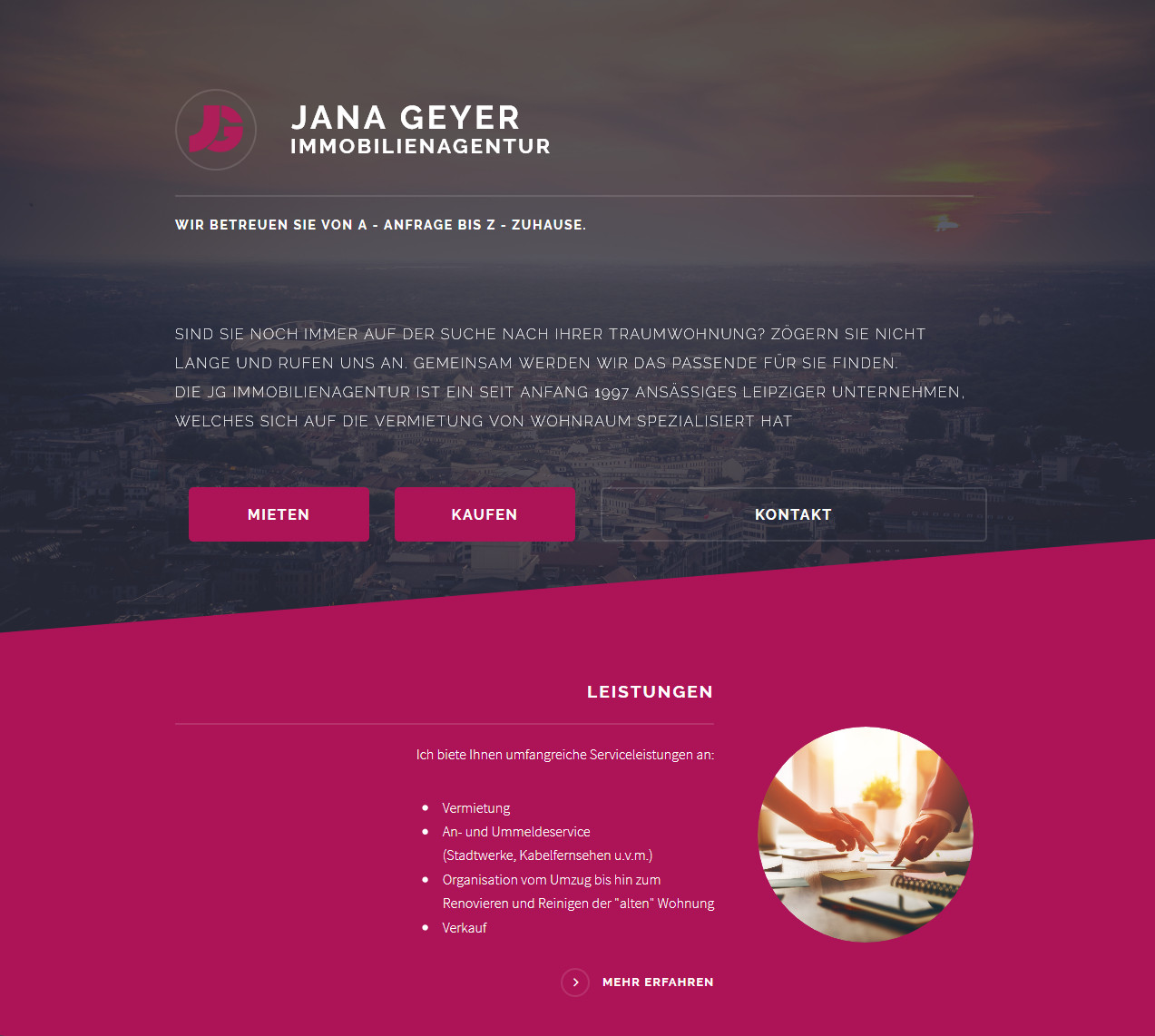 janageyer.de Relaunch
