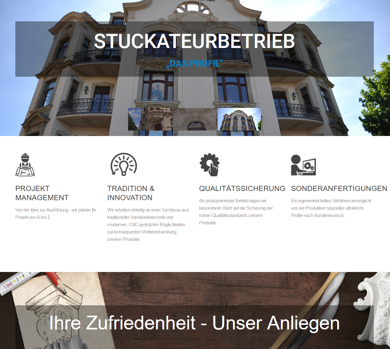 Relaunch Stuckbauwerk
